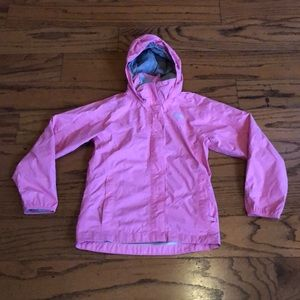 The North Face Pink Hyvent Hooded Rain Jacket 10/1